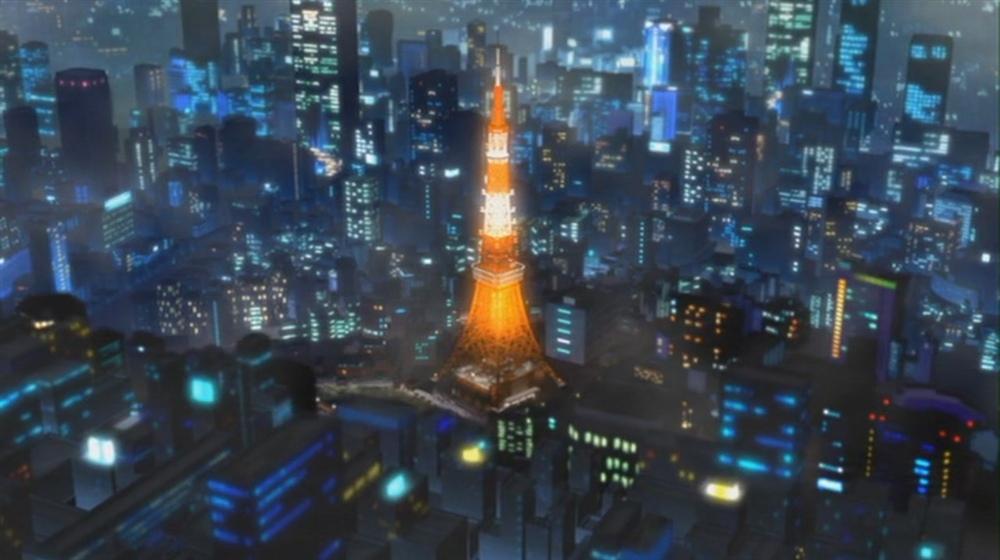 东京铁塔; 剧场版《黑暗的追踪者》截图