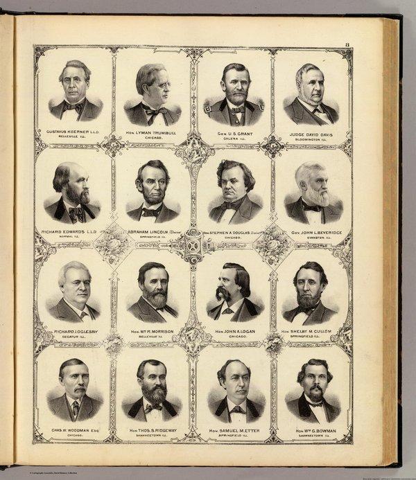 1876年美国 依利诺斯州地图集 1159