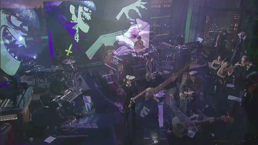 Gorilaz Live On Letterman 演唱会MV