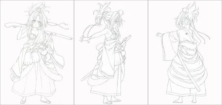 古代武将男子手绘