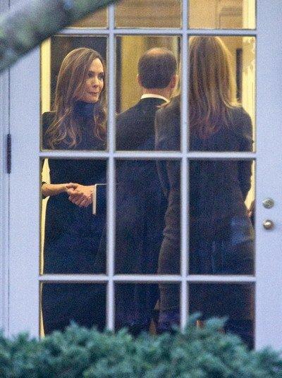 皮特与朱莉作客白宫 会见总统奥巴马