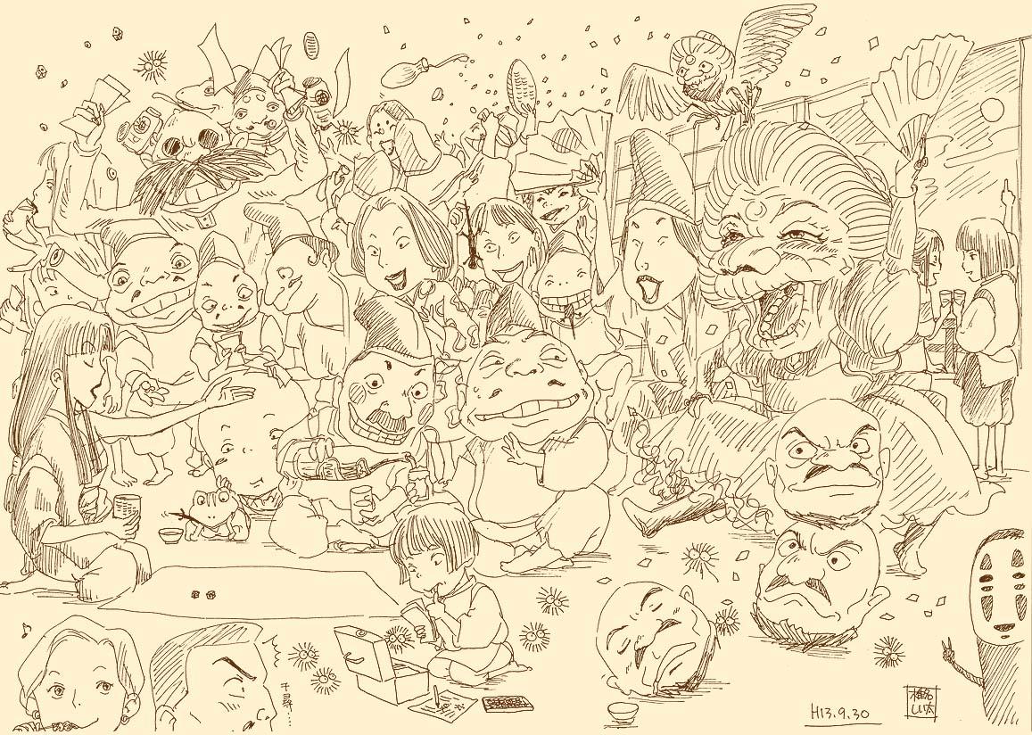 宫崎骏原稿手绘