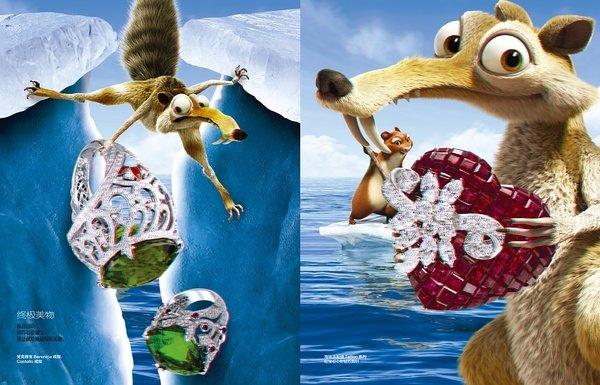 这只屌丝小松鼠这次带着那些超级可爱的冰川英雄们来了一个时尚大逆袭
