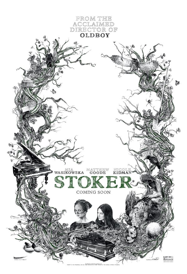 军好莱坞的首部英语片《斯托克》今日曝光手绘风格的首款海报和