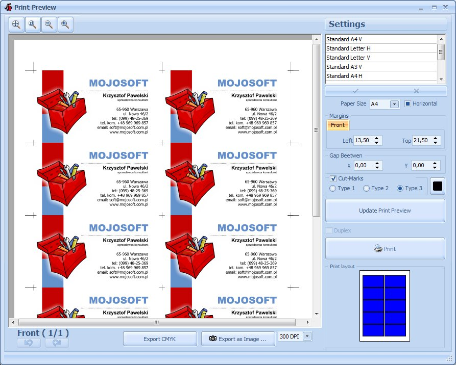 Mojosoft software businesscards mxv471 businesscards mx gives you the flexibility to generate your self created dynamic business cards now you have a tool that will allow you reheart Image collections