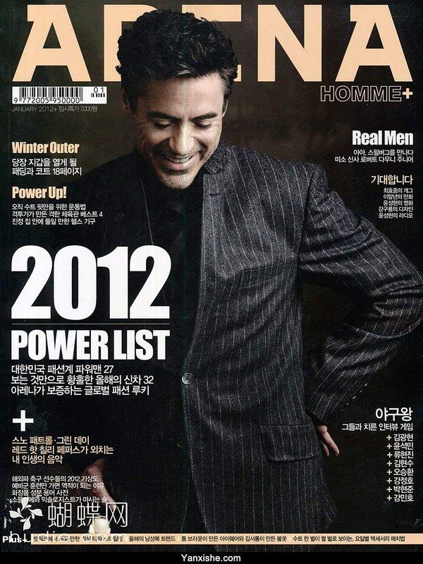 杂志封面; 《《arena homme》潮男时尚系列韩文杂志