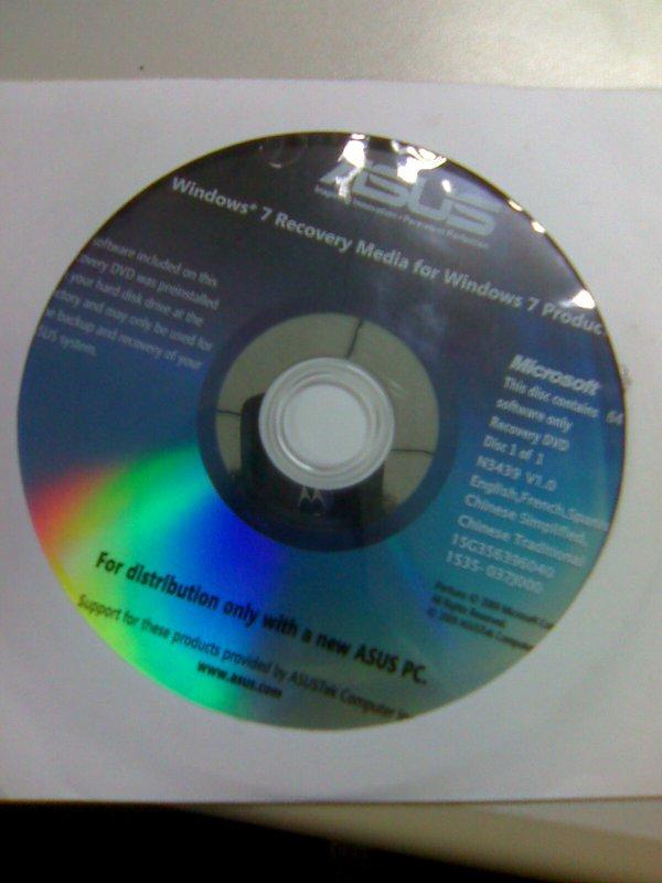华硕 Windows 7 专业版 64位 繁体