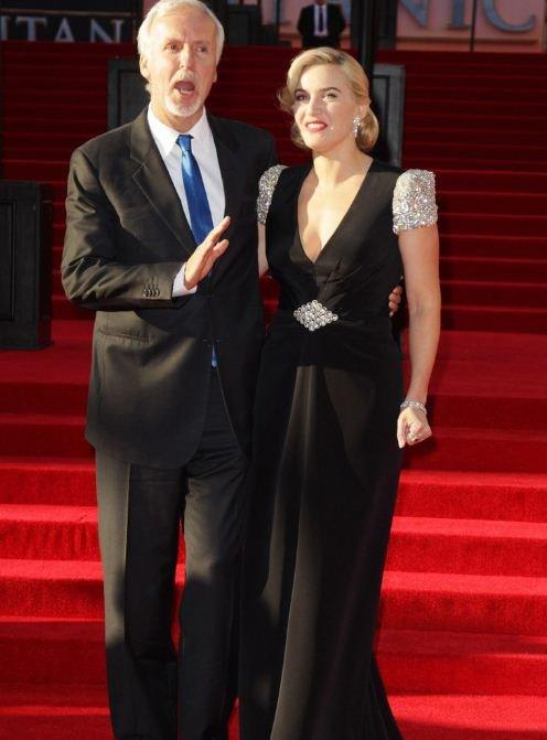 3D《泰坦尼克号》全球首映 凯特与卡梅隆领衔