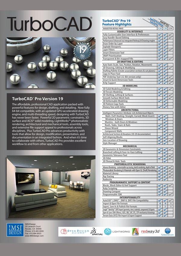 《cad设计综合软件》(imsi turbocad pro platinum )v19.0[压缩包]