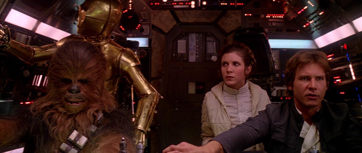 银河帝国派出大军进攻哈斯星,韩·索罗(哈里森·福特饰)携猿人