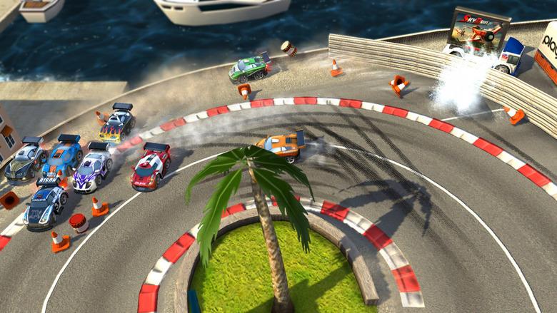游戏名称:棒棒赛车 英文名称:Bang Bang Racing 游戏类型:即时战略 游戏制作:Digital Reality Software & Playbox 游戏发行:Kalypso Media Digital 【游戏简介】 由Digital Reality制作的竞速游戏《碰碰赛车》是一款快节奏的家庭欢乐版赛车游戏,适合每个家族成员一起游戏。 游戏特色: *多个来自世界各地的异国风情赛车场景 *9个带有捷径的颇具挑战性的赛道 *20款独特的车辆和8种彩色皮肤,4个不同的赛车类型,包括肌肉车、