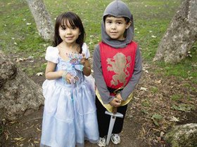 骑士与少女海报