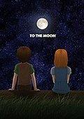 去月球 海报