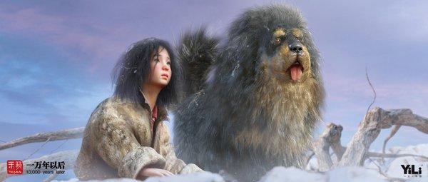 3d电影 一万年以后 人体彩绘虎女豹女熔岩人 ocean 高清图片