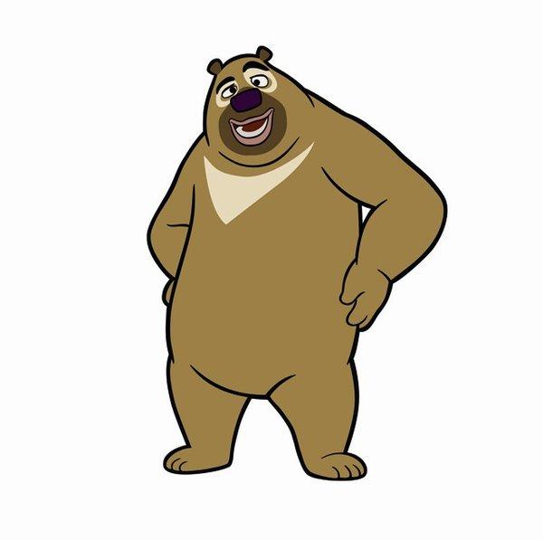 熊出没简笔画步骤图 嘟嘟