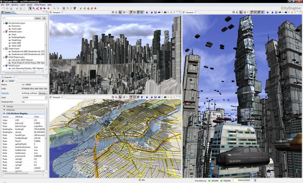 CityEngine3D城市建筑建模教程》Ersi CityEngine Tutorial with Project