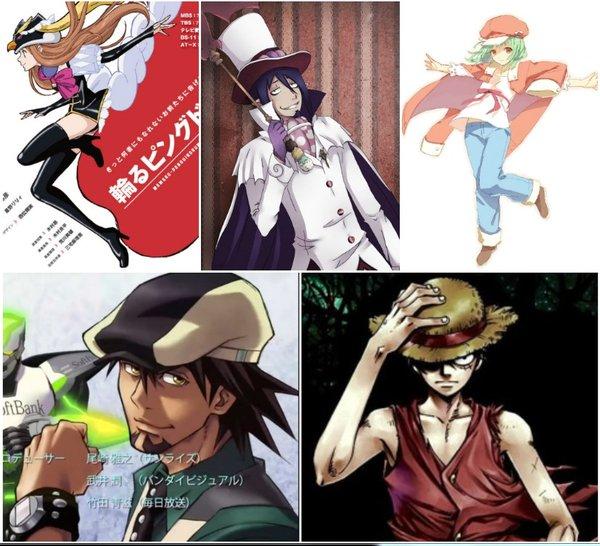 """戴帽子的动漫角色谁最帅""""为主题进行了投票,帅气的路飞竟然输给了基男图片"""
