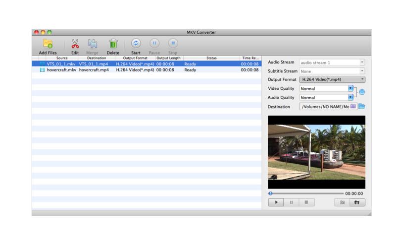 MKV Converter - незамысловатый конвертер MKV в наиболее популярные аудио и