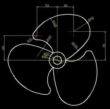 [凯菲教育][跟小凯学CAD.第二季.外传][AutoCAD.2004.基础教程](AutoCAD.2004).风扇绘制.JPG