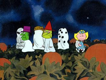 史努比卡通:万圣节南瓜头
