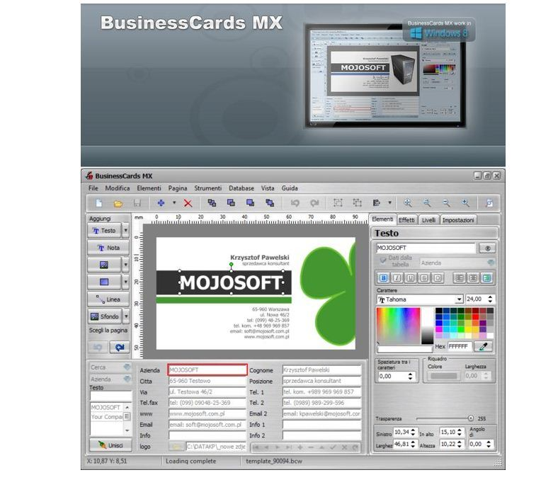 商业名片设计软件》(Mojosoft Software BusinessCards MX )v4.76 ...